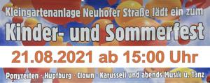 Kinder- und Sommerfest am 21.8.2021